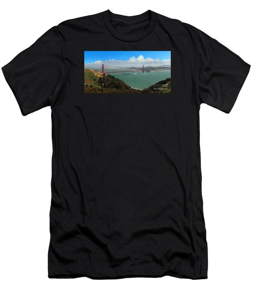 Uss Iowa, Battelship, Golden Gate Bridge, San Francisco, Califor Men's T-Shirt (Slim Fit) by Wernher Krutein