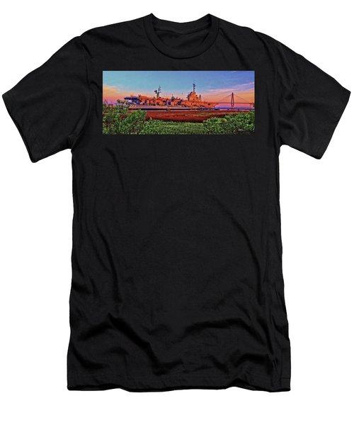 Uss York Town Men's T-Shirt (Athletic Fit)