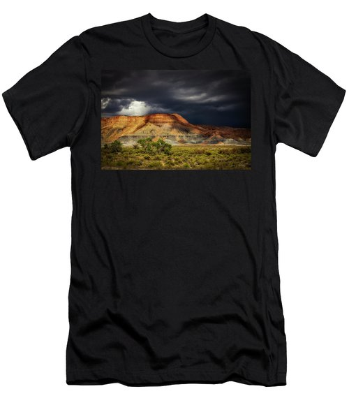 Utah Mountain With Storm Clouds Men's T-Shirt (Athletic Fit)
