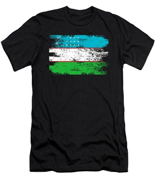 Uzbekistan Shirt Gift Country Flag Patriotic Travel Asia Light Men's T-Shirt (Athletic Fit)