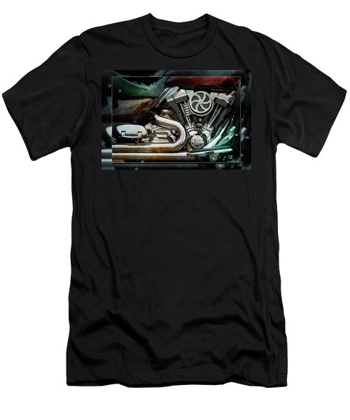 Men's T-Shirt (Slim Fit) featuring the photograph V Twin by WB Johnston