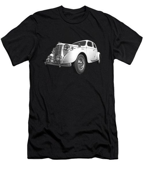 V8 Pilot In Black And White Men's T-Shirt (Athletic Fit)