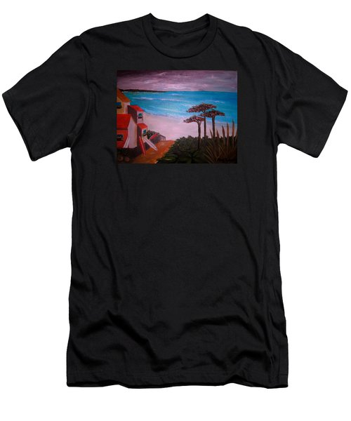 On Vacation Men's T-Shirt (Slim Fit) by Pristine Cartera Turkus
