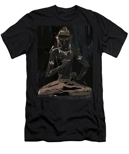 Men's T-Shirt (Slim Fit) featuring the digital art Vajrasattva by Rabi Khan