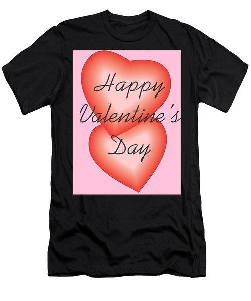 Valentine Hearts Men's T-Shirt (Athletic Fit)
