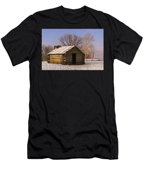 Valley Forge Cabin At Sunset Men's T-Shirt (Athletic Fit)