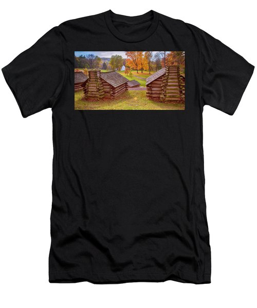 Valley Forge Huts In Fall Men's T-Shirt (Athletic Fit)