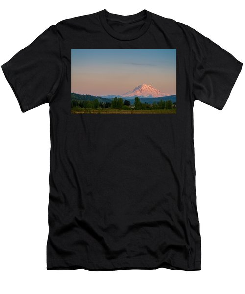 Valley Sunset Of Mt Rainier Men's T-Shirt (Slim Fit) by Ken Stanback