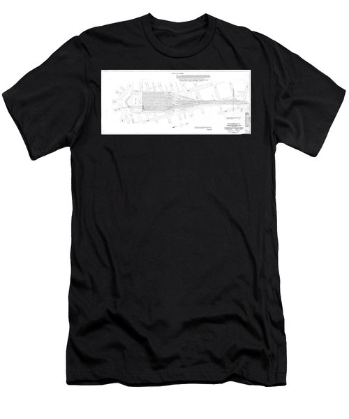 Valuation Map Washington Union Station Men's T-Shirt (Athletic Fit)