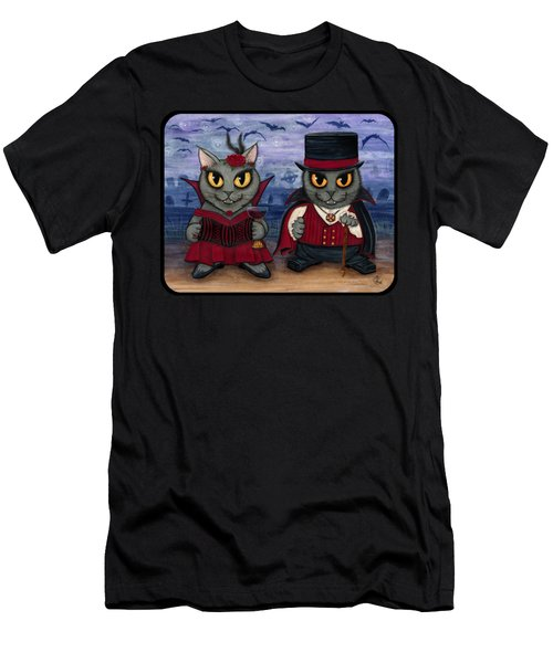 Vampire Cat Couple Men's T-Shirt (Athletic Fit)