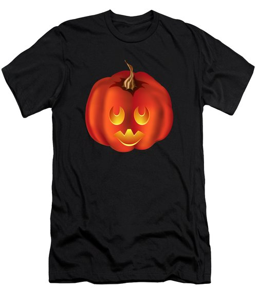 Vampire Halloween Pumpkin Men's T-Shirt (Athletic Fit)