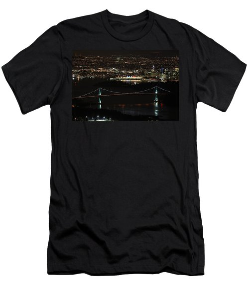 Vancouver At Night Men's T-Shirt (Athletic Fit)