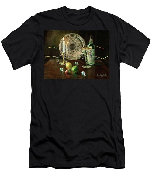 Vanitas Still Life By Candlelight With Les Bourgeois Wine Men's T-Shirt (Athletic Fit)