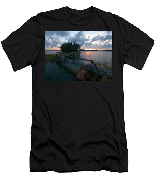 Men's T-Shirt (Slim Fit) featuring the photograph Variations Of Sunsets At Gulf Of Bothnia 6 by Jouko Lehto