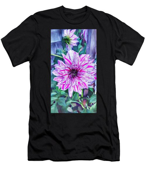 Variegated Dahlia In Oil Men's T-Shirt (Athletic Fit)
