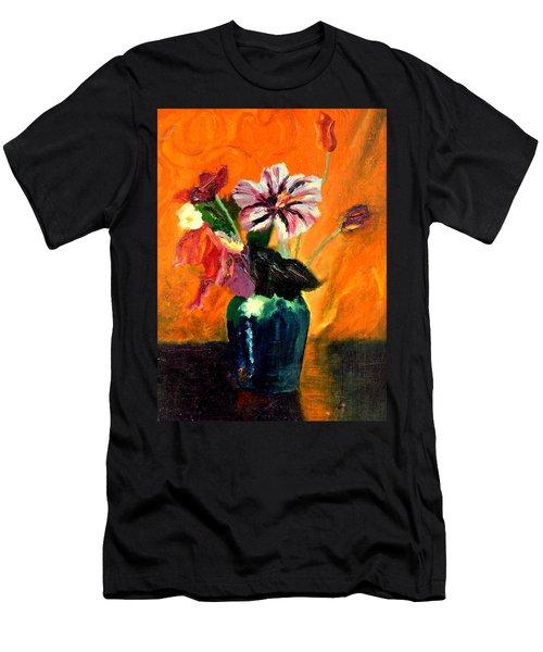 Vase With Flowers Men's T-Shirt (Athletic Fit)