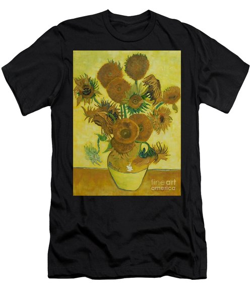 Vase Withfifteen Sunflowers Men's T-Shirt (Athletic Fit)