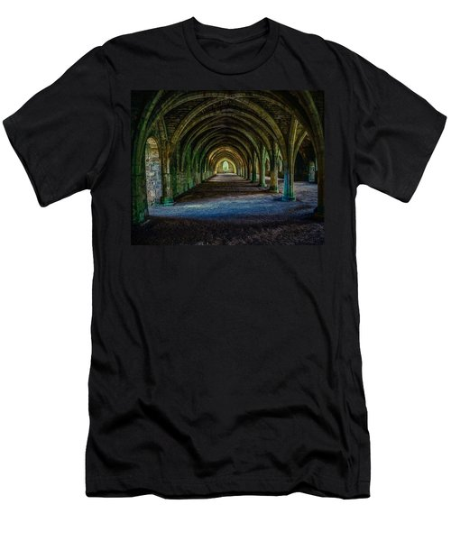 Vaulted, Fountains Abbey, Yorkshire, United Kingdom Men's T-Shirt (Athletic Fit)