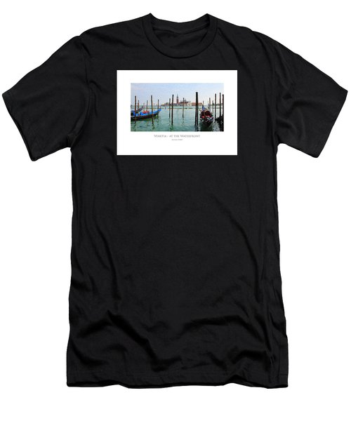 Men's T-Shirt (Athletic Fit) featuring the digital art Venetia - At The Waterfront by Julian Perry