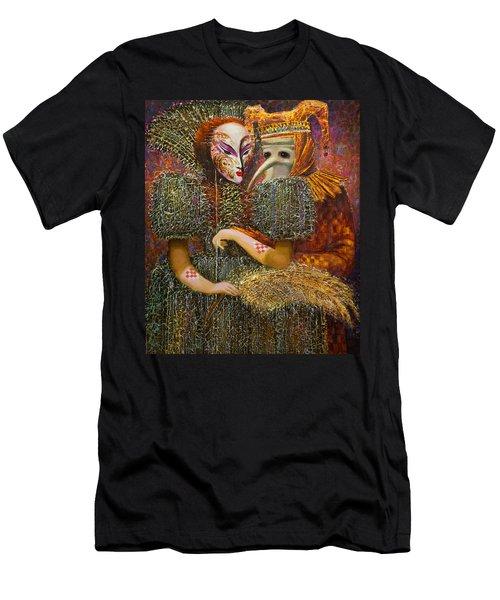 Venetian Masks Men's T-Shirt (Athletic Fit)