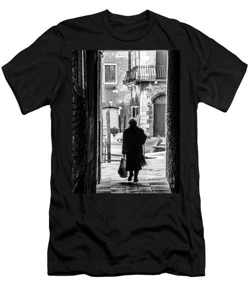 Venetian Silhoutte Lady Men's T-Shirt (Athletic Fit)