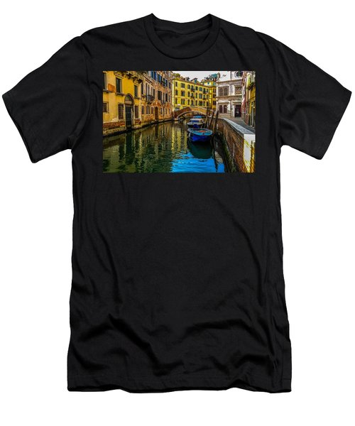 Venice Canal In Italy Men's T-Shirt (Athletic Fit)