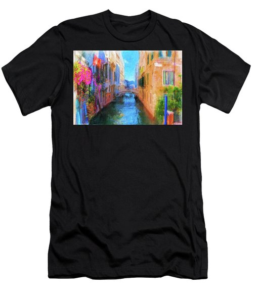 Venice Canal Painting Men's T-Shirt (Athletic Fit)