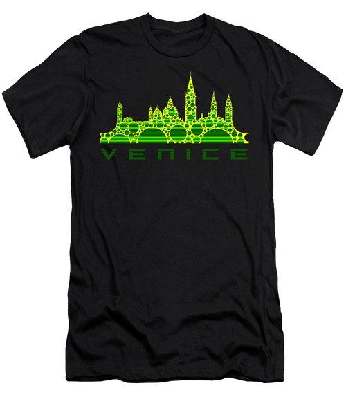 Venice Cool Skyline 3 Men's T-Shirt (Athletic Fit)