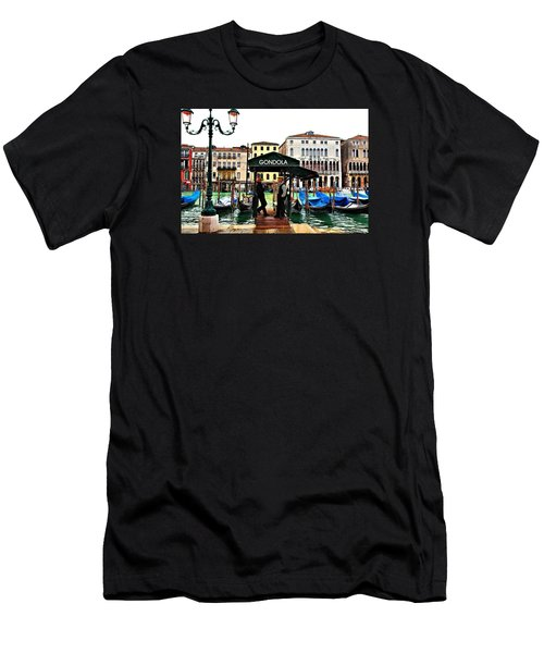 Men's T-Shirt (Slim Fit) featuring the photograph Venice - Off Season by Laura Ragland