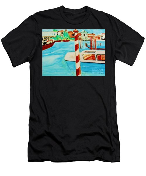 Venice Travel By Boat Men's T-Shirt (Athletic Fit)
