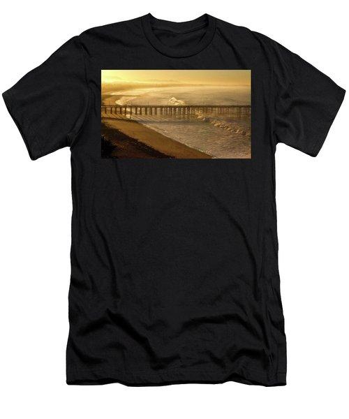 Ventura, Ca Pier At Sunrise Men's T-Shirt (Athletic Fit)