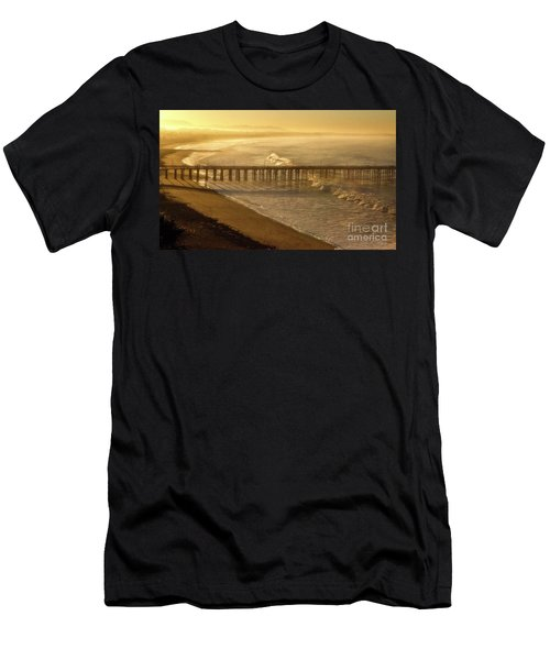Ventura, Ca Pier At Sunrise Men's T-Shirt (Athletic Fit)