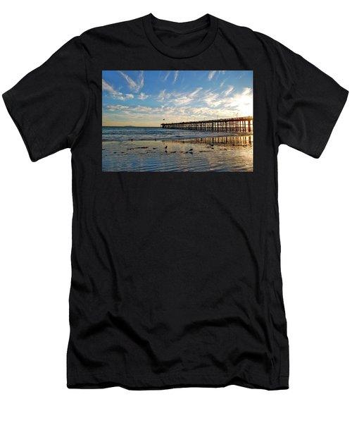 Ventura Pier At Sunset Men's T-Shirt (Athletic Fit)