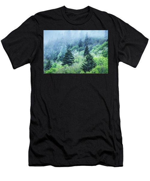 Verdant Forest In The Great Smoky Mountains Men's T-Shirt (Athletic Fit)