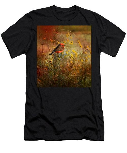 Vermilion Flycatcher At St. Marks Men's T-Shirt (Athletic Fit)