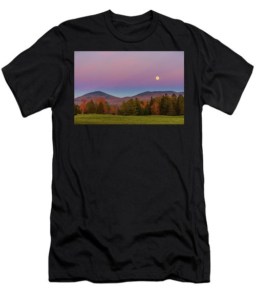 Vermont Fall, Full Moon And Belt Of Venus Men's T-Shirt (Athletic Fit)