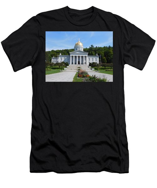 Vermont State House Men's T-Shirt (Slim Fit) by Catherine Gagne
