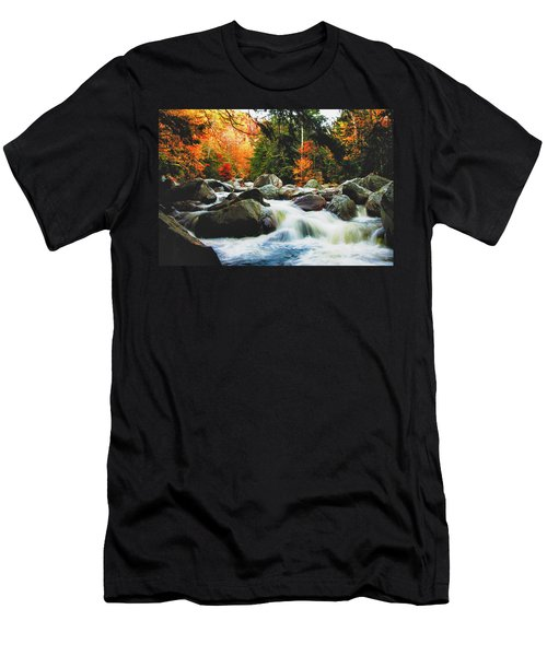 Vermonts Fall Color Rapids Men's T-Shirt (Athletic Fit)
