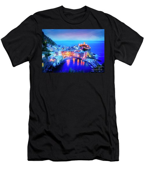 Vernazza At Dusk Men's T-Shirt (Athletic Fit)