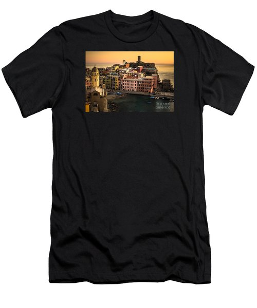 Vernazza At Sunset Men's T-Shirt (Athletic Fit)