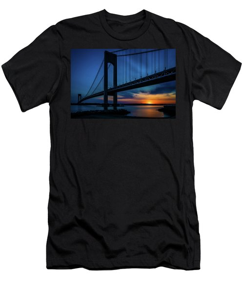 Men's T-Shirt (Athletic Fit) featuring the photograph Verrazano Sunset by Chris Lord