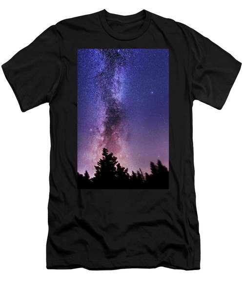 Vertical Milky Way Men's T-Shirt (Athletic Fit)