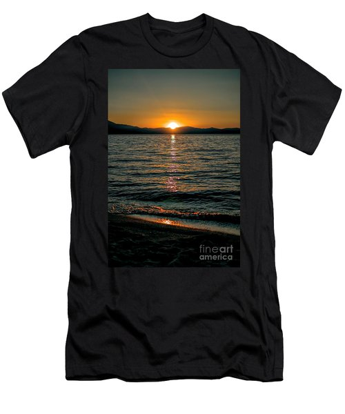 Vertical Sunset Lake Men's T-Shirt (Athletic Fit)