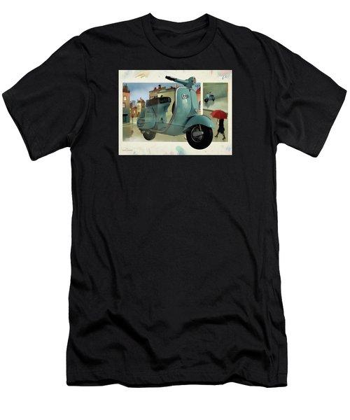 Vespa Memories Men's T-Shirt (Athletic Fit)