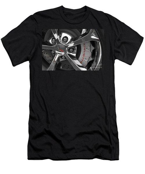 Vette Wheel Men's T-Shirt (Slim Fit) by Dennis Hedberg