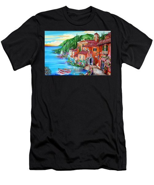 Via Positano By The Lake Men's T-Shirt (Athletic Fit)