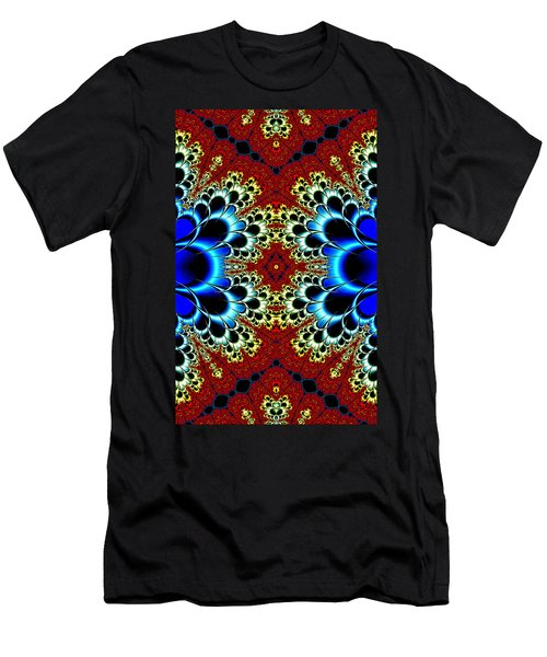 Vibrancy Fractal Cell Phone Case Men's T-Shirt (Slim Fit) by Lea Wiggins
