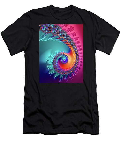 Vibrant And Colorful Fractal Spiral  Men's T-Shirt (Athletic Fit)