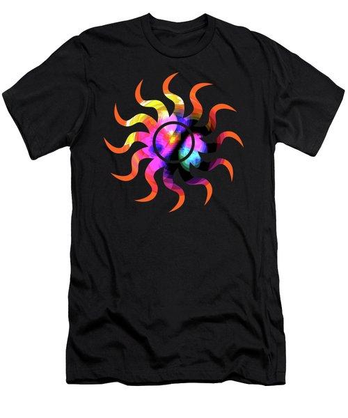 Vibrant Circle On Orange Men's T-Shirt (Athletic Fit)