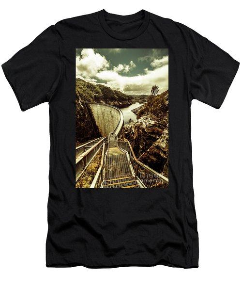 Vibrant River Dam Men's T-Shirt (Athletic Fit)